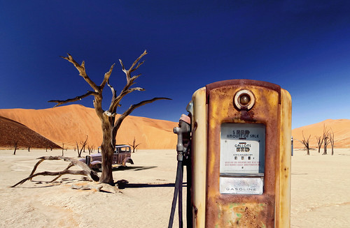 Desert Abandoned Gas Station Pump | by David Blackwell.