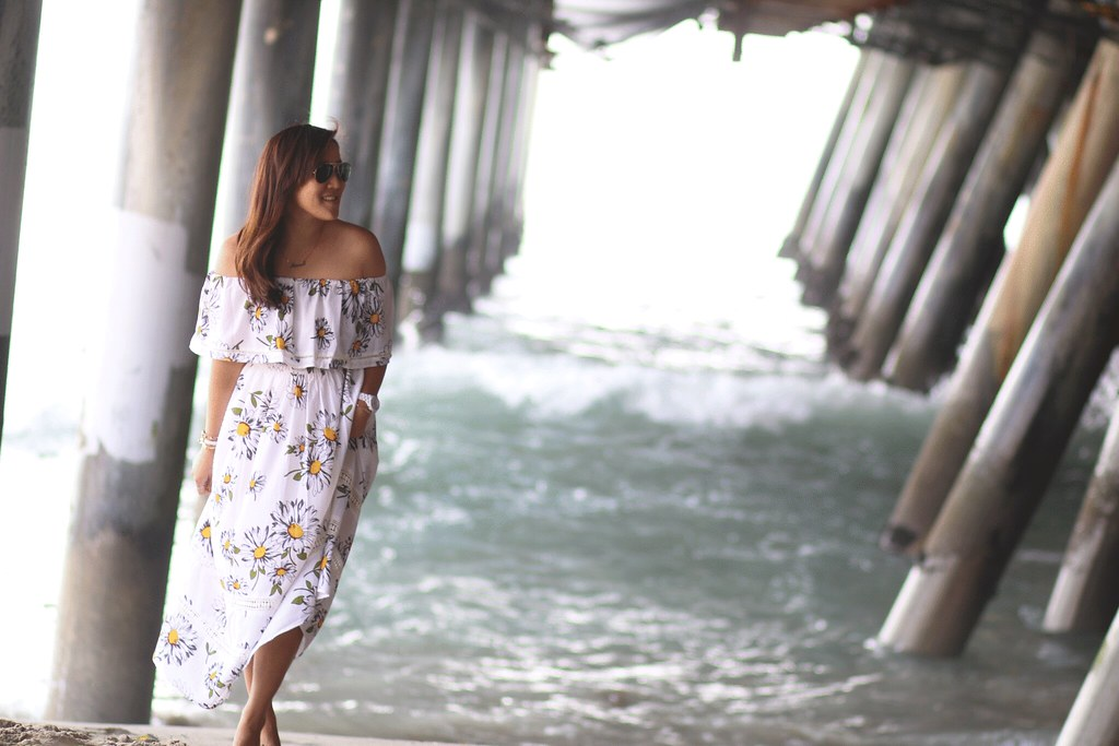 simplyxclassic, miriam gin, travel blogger, california, fashion blogger, chicwish, daisy maxi dress, off the shoulder dress, summer