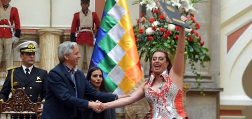 Acto de promulgación de la Ley de Identidad de Género en Bolivia
