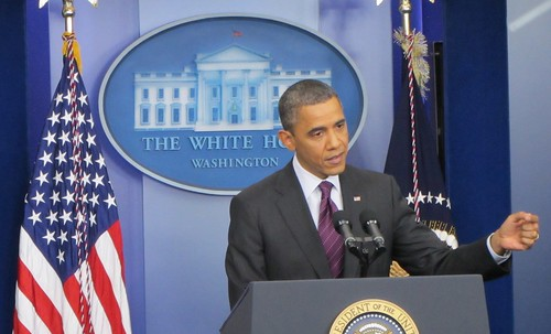 Obama during White House Press conference | by WilliamKoenig