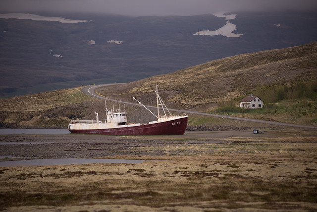 Fishing Shipwreck in the Westfjords of Iceland