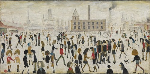 Laurence Stephen Lowry - An Open Space [1968] | by Gandalf's Gallery