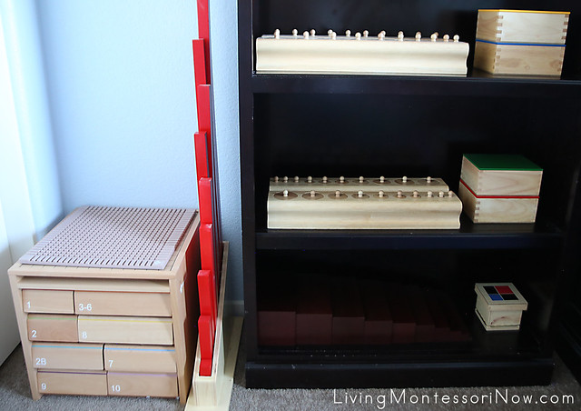 Montessori Material Shelves for a 2½ Year Old