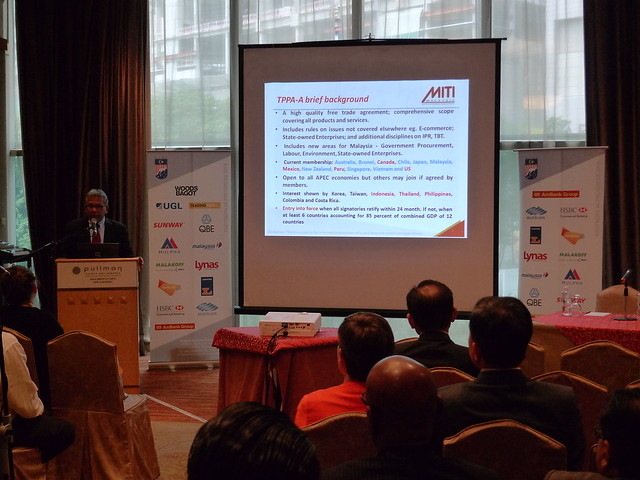 "2016 April: MABC Networking Evening & Talk - ""TPPA: Opportunities for Malaysia"" By Datuk J. Jayasiri"