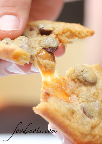 Caramel Filled Chocolate Chip Cookies | by Recipe Snob