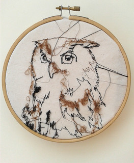 "6"" Embroidery Owl <3 
