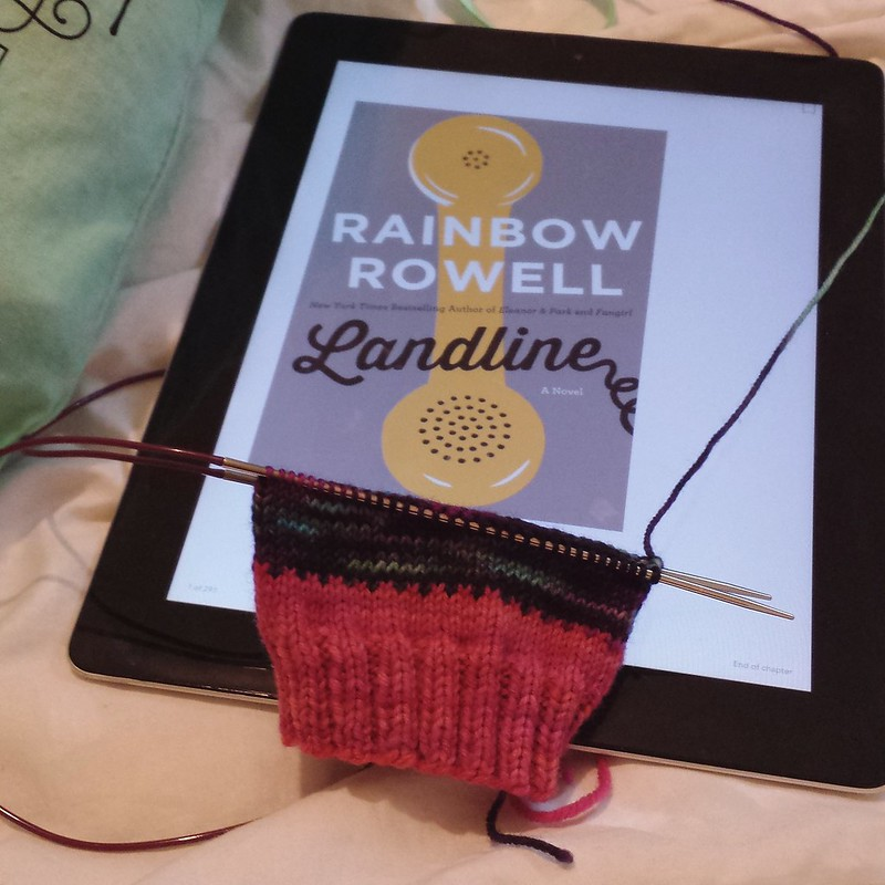 scrappy sock start and a new book