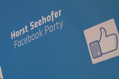 Horst Seehofers Facebook-Party | by Paukner