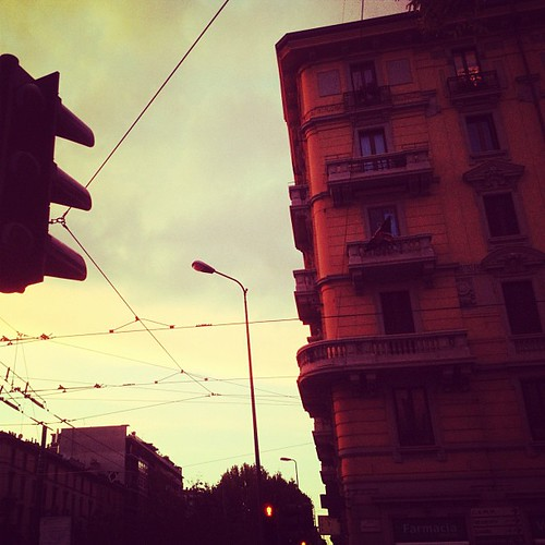 #urban #city #milan #italy #sunset #sky #clouds #building | by cromatichiara