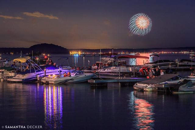 Fireworks Over Saratoga Lake, Part II