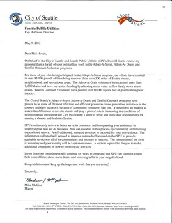 CITY OF SEATTLE ADOPT A STREET THANK YOU LTR_MAYOR MCGINN 5_9_12 | by Cannabis Defense Coalition