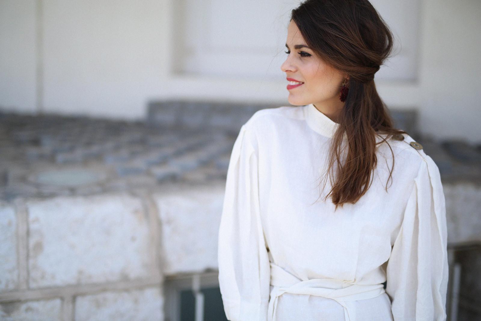 jessie chanes seams for a desire zara vestido lino capazo rafia-7