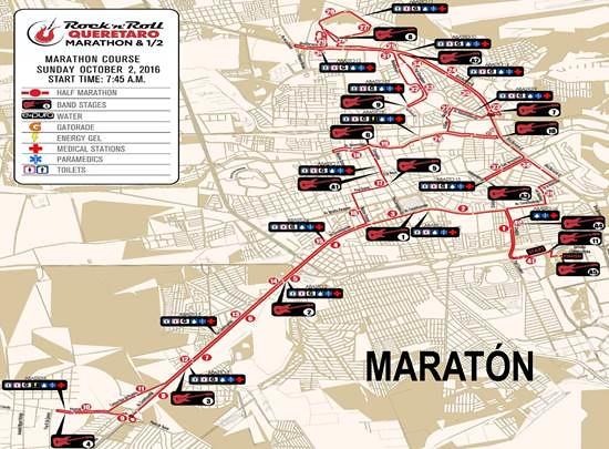 Ruta Rock n Roll Maratón Quéretaro