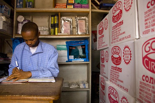 A medical supply shop owner | by World Bank Photo Collection