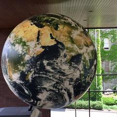 Revolving globe in Heroy Hall