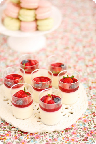 Vanilla Panna Cotta Verrines with Raspberry Coulis | by *bossacafez
