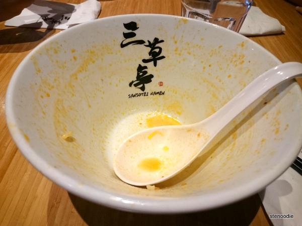 Empty ramen bowl