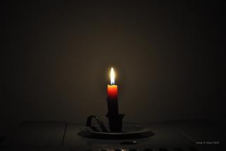A luz de velas