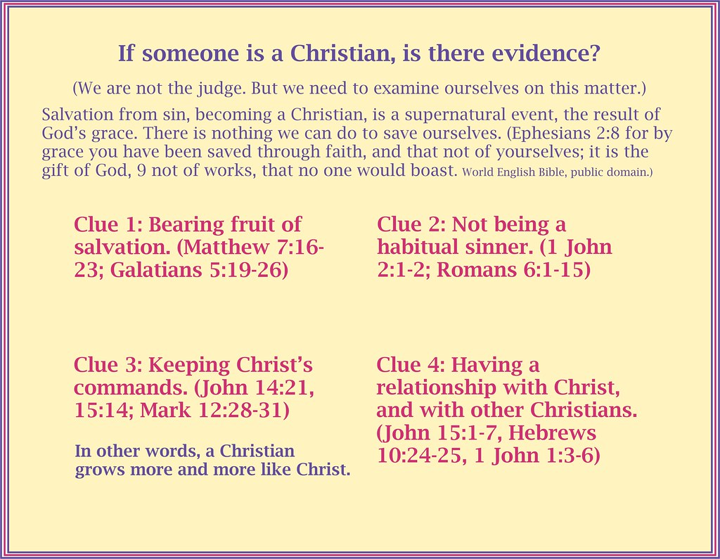 Evidence for Being a Christian