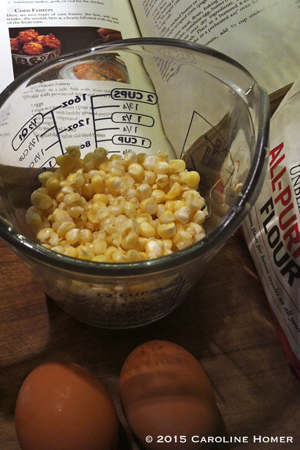 making corn fritters