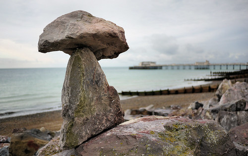 Rock Balancing. (Worthing Sussex) | by Rita Wren