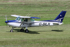 G-BILR - 1981 build Cessna 152, rolling for departure on Runway 26L at Barton