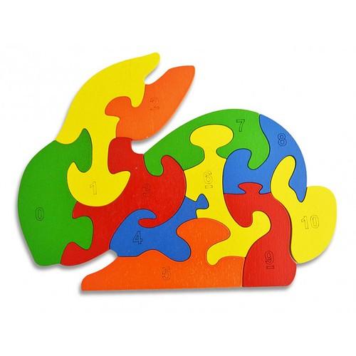 Lắp ghép đồ chơi gỗ - con thỏ