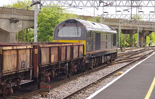 The 'Special' hauled by 67005, 'The Queen's Messenger' through Bletchley station, 12th May 2012 | by OG47