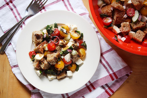 summer panzanella salad. | by girlversusdough