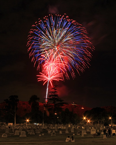 Happy 4th of July from Evergreen Cemetery | by Dave Toussaint (www.photographersnature.com)