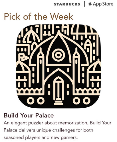 Starbucks iTunes Pick of the Week - Build Your Palace