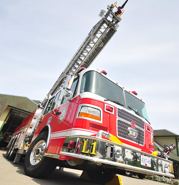 Sooke Ladder Firetruck Photoshoot