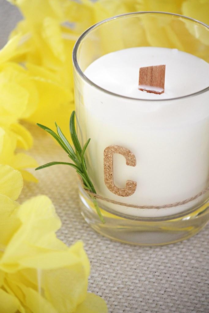 Citronella-hyttyskynttilä valmistus