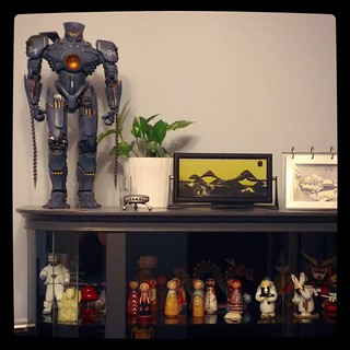 Robots, astronauts, peg dolls and ukiyo-e, for #365days project, 145/365. #kuzzzmahomesweethome