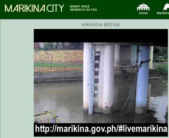 Marikina live view of Marikina River Water Level Gauge CCTV