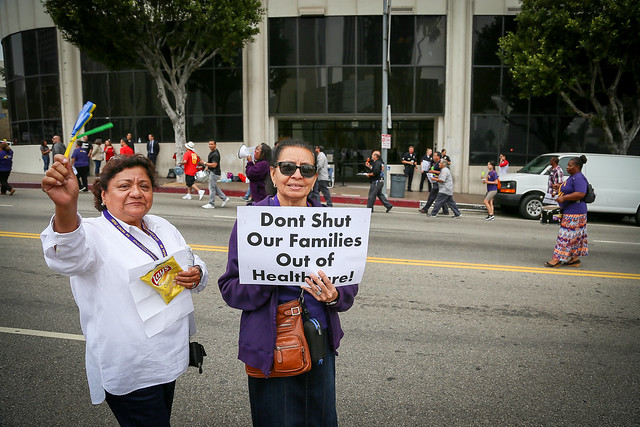 Rallying for Health Care Justice at LAUSD - June 14