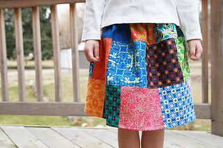 Patchwork Skirt Front | by Fresh Lemons : Faith