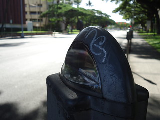 Graffiti on parking meter | by Beatrix Wanderlust