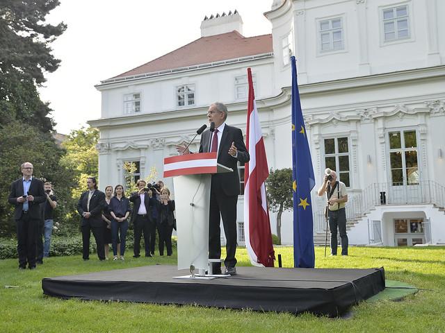 Erste Rede des gewählten Bundespräsidenten Alexander Van der Bellen