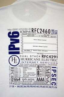 Hurricane Electric IPv6 sage T-shirt | by mikemol