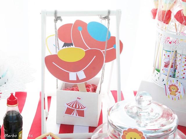 mesa dulce temática circo www.merboevents.com