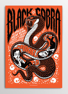 Gigposter Black Cobra | by Michael Hacker Illustration