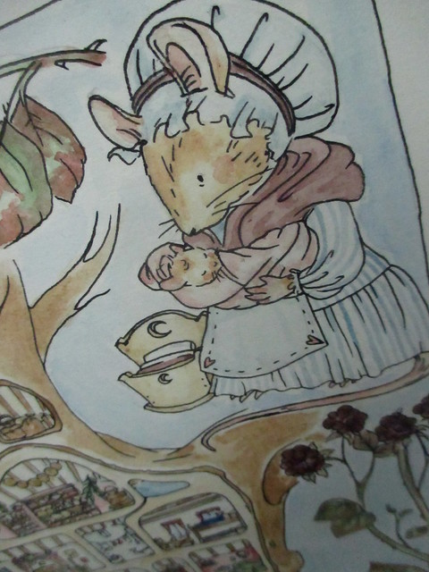 Hedgefairy: Brambly Hedge Tribute - Detail: Midmouse finished