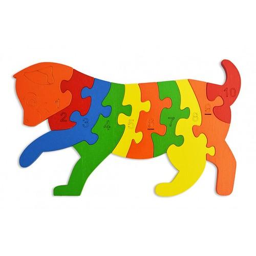 Lắp ghép đồ chơi gỗ - con mèo