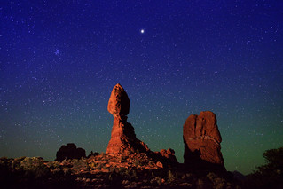 "Starry Night over Balanced Rock | by IronRodArt - Royce Bair (""Star Shooter"")"