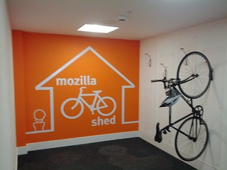 Mozilla's colourful bike shed in London | by Lucas Rocha