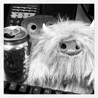 Diet coke runs this office. Small yetis don't hurt either. | by Urban Threads