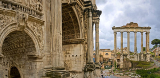 Arch of Septimius Severus and the Temple of Saturn. | by pedro lastra