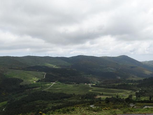 Serra do Barbanza desde el monte Enxa