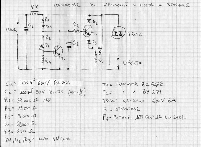 Schema Elettrico Regolatore Di Tensione Velocità Motore Elettrico Corrente Continua : Il miglior variatore di velocità sempre modelingtime